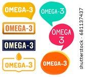omega   3. badge  icon  logo...   Shutterstock .eps vector #681137437