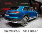 Small photo of FRANKFURT, GERMANY - SEP 16, 2015: Audi E-tron Quattro concept car at the Frankfurt IAA Motor Show.