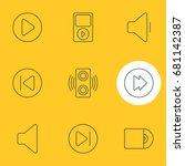 vector illustration of 9 music...   Shutterstock .eps vector #681142387