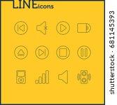 vector illustration of 12 music ... | Shutterstock .eps vector #681145393