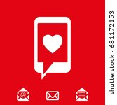 phone with hearts on the screen ...   Shutterstock .eps vector #681172153