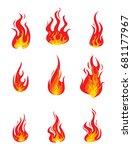 set of fire | Shutterstock .eps vector #681177967