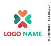 logo flat design template   Shutterstock .eps vector #681181327