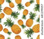 Seamless Pineapple Pattern On...