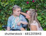 disability a disabled child in... | Shutterstock . vector #681205843