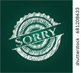 sorry with chalkboard texture | Shutterstock .eps vector #681208633