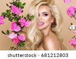 portrait of a beautiful ... | Shutterstock . vector #681212803