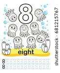 coloring printable worksheet... | Shutterstock .eps vector #681215767