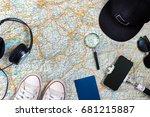 travel plan  trip vacation... | Shutterstock . vector #681215887
