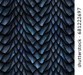 seamless texture of dragon... | Shutterstock . vector #681222697