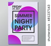 summer night party vector ... | Shutterstock .eps vector #681237163