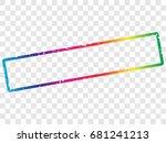 rectangle frame template....   Shutterstock .eps vector #681241213