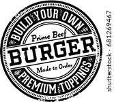 build your own burger... | Shutterstock .eps vector #681269467