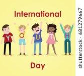 international youth day  12... | Shutterstock .eps vector #681279667