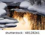 Freezing Taiga Small River Wit...