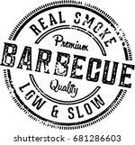 barbecue vintage restaurant... | Shutterstock .eps vector #681286603