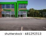 unoccupied generic store front  ... | Shutterstock . vector #681292513