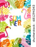 vector banner  poster  frame... | Shutterstock .eps vector #681294343