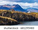 typical icelandic landscape... | Shutterstock . vector #681295483