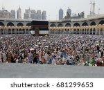 mecca  saudi arabia  september... | Shutterstock . vector #681299653