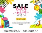 vector back to school sale... | Shutterstock .eps vector #681300577