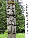 Small photo of Haida Mortuary pole