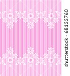 white flowery lace pink card | Shutterstock .eps vector #68133760