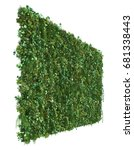 3d rendering of vertical garden | Shutterstock . vector #681338443