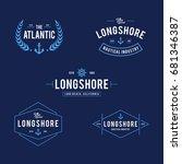 vintage nautical and ocean... | Shutterstock .eps vector #681346387