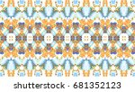 colorful mosaic pattern for... | Shutterstock . vector #681352123