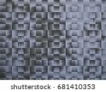 color pattern weave bands.... | Shutterstock . vector #681410353