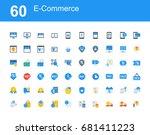 creative icon set   e commerce   Shutterstock .eps vector #681411223