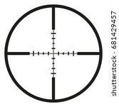vector black optical sight aim... | Shutterstock .eps vector #681429457
