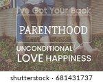 family parentage home love... | Shutterstock . vector #681431737