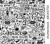 seamless grunge background  ... | Shutterstock .eps vector #68143753