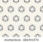 geometric pattern | Shutterstock .eps vector #681451573