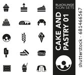 professional black and white... | Shutterstock .eps vector #681466567