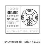 organic food. logo  badge and... | Shutterstock .eps vector #681471133