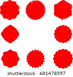 grunge post stamps collection ... | Shutterstock .eps vector #681478597