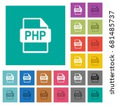 php file format multi colored... | Shutterstock .eps vector #681485737