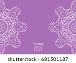 invitation or card template... | Shutterstock .eps vector #681501187