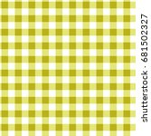 yellow and white gingham... | Shutterstock .eps vector #681502327