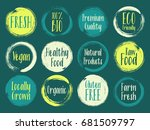 painted vector organic labels ...