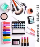 make up brush  perfume  eye... | Shutterstock . vector #681514483