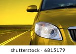 yellow car on the road | Shutterstock . vector #6815179