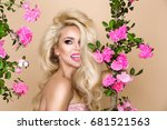 portrait of a beautiful ... | Shutterstock . vector #681521563