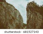 beautiful mountain gorge | Shutterstock . vector #681527143