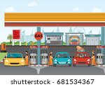 gasoline and oil station or gas ... | Shutterstock .eps vector #681534367