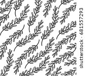 monochrome pattern of branches... | Shutterstock .eps vector #681557293