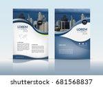 cover design  annual report... | Shutterstock .eps vector #681568837